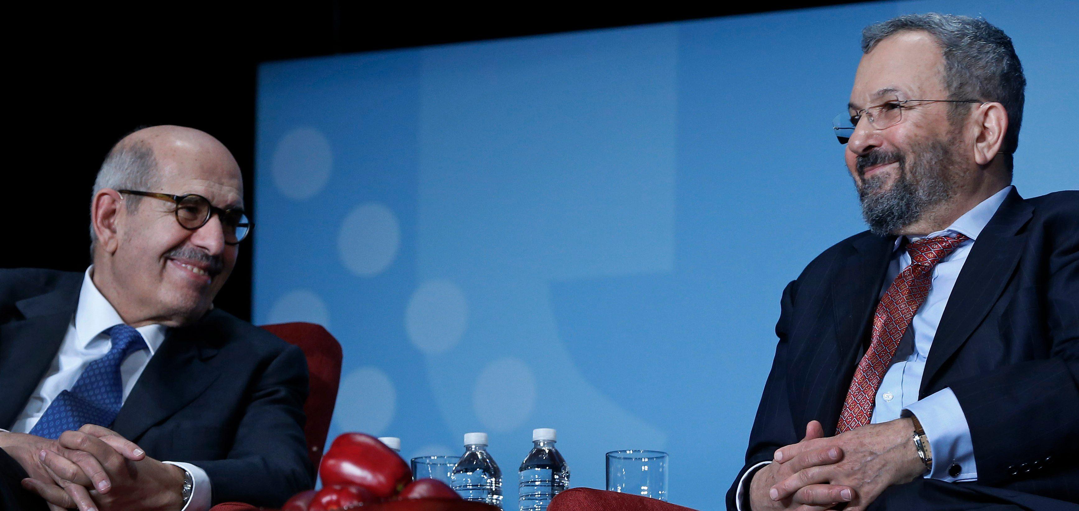 Prime Minister Ehud Barak & Dr. Mohamed ElBaradei